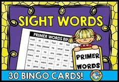 #SIGHT #WORDS #BINGO: #DOLCH #PRIMER #WORDS