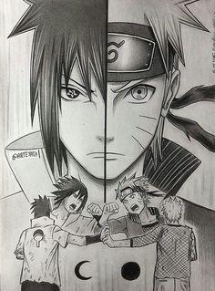 Naruto e Sasuke melhores amigos eternos
