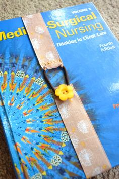 Diy bookmark made from ribbon button and hair rubber for How to tie a ribbon on a bookmark