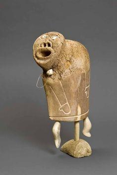 Inuit walrus bone shaman figurine