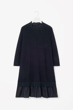 Dress with ruche hem