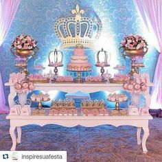 Quinceanera Party Planning – 5 Secrets For Having The Best Mexican Birthday Party Cinderella Theme, Cinderella Birthday, Princess Theme, Princess Birthday, Girl Birthday, Quinceanera Decorations, Quinceanera Party, Party Decoration, Birthday Decorations