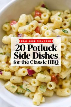 20 Potluck Side Dishes for the Classic Summer BBQ | foodiecrush .com