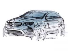 Mercedes-Benz GLC Design Sketch by Robert Lesnik #MercedesBenz #Mercedes #Benz #GLC #Design #Sketches #Car #Cardesign