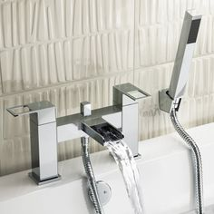 Everest II Waterfall Bath Mixer Tap With Hand Held Shower
