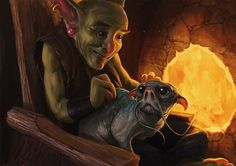 Goblin's Best Friend by SirenD......Click on image to enlarge....