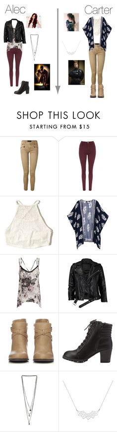 """Alec Chasse V Carter Kane"" by mercy-xix ❤ liked on Polyvore featuring Polo Ralph Lauren, Hollister Co., Girls On Film, VIPARO, Wallis, Charlotte Russe, Miss Selfridge and A Weathered Penny"