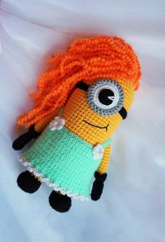 Minion girl amigurumi pattern