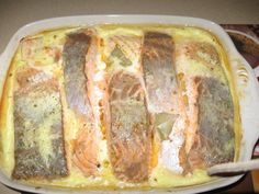 Рыба запечённая в сливках