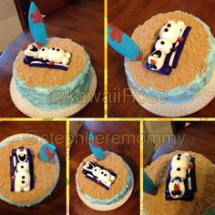 The Olaf in summer cake we made