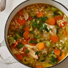 Zero+Belly+Recipe:+Easy+Chicken+and+Rice+Soup+|+Eat+This+Not+That+@keyingredient+#soup+#chicken+#easy