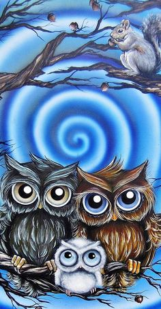 owl family by Elizabeth Letourneau