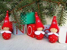 Свет в окошке: Noël ♥ Гномики-бусинки