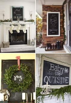 Christmas chalkboards | Fairly Light