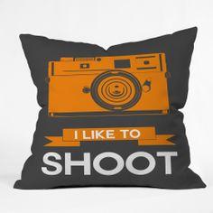 Naxart I Like To Shoot 1 Throw Pillow –  Thought of you (: @Blair E. Tripp Clark
