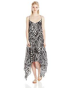 Volcom Junior's Fashion Week Zebra Maxi Dress, Black