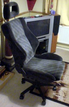How to Make a Desk Chair from a Car Seat -- via wikiHow.com