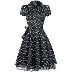 Black White Small Dot Long Dress (3.845 RUB) ❤ liked on Polyvore featuring dresses, vestidos, short dresses, black and white polka dot dress, black and white long dress, polka dot long dress, long dresses and black and white mini dress