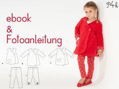 Schnittmuster für Kinder Leggins und Jacke Kombi von pattern4kids - Schnittmuster für Baby- und Kinderkleider als ebook download mit Nähanleitung auf DaWanda.com