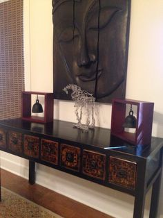 Watercress Springs Estate Sales Fairfield CT Estate Sale - 600 Wellington Drive, July 15th-16th, 2016 - Asian Style Console Table with Matching Side Table 55 x 17