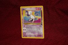 Mew Pokemon Promo Trading Card Nintendo Gamefreak Wizards 1999 Hp News, Pokemon Mew, Collectible Cards, Trading Cards, Evolution, Nintendo, Wizards, Collector Cards