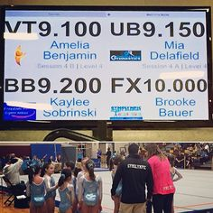 Congratulations Brooke Bauer of Gym Olympic on a perfect 10.0 on floor at #PAstates #mancinomats #mancinomeets