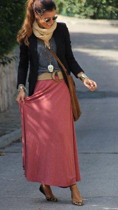 long skirt and leopard shoes  , zara en Chaquetas, zara en Jerseys, bershka en Faldas, zara en Zapato plano