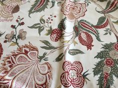 NEW WILLIAMS SONOMA French Floral Placemats Green Set of 4 Table Linen Cotton…