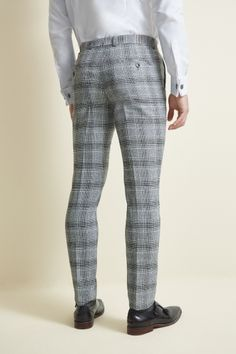 These Moss London trousers have tightly tapered legs that graze the top of the shoe for an ontrend fit while the stretch material ensures theyre comfortable and move with you Finish the look with black double Monk shoes for a smart office outfit