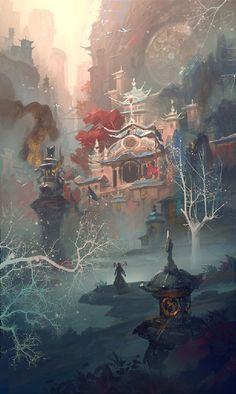 The Art Of Animation by Bigball Gao #Ar t#Illustration #Digital art #Painting #Bigball Gao