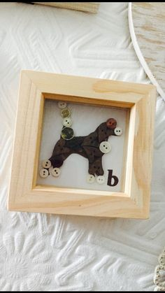 Beagle button art