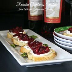 Asado Cranberry Crostini #SundaySupper - Recetas de comida y la cocina