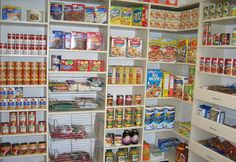 Knowing how much to stockpile and keeping a steady supply of needed items is essential for couponers. When possible, stockpile as much as your family will use before the expiration date. The larger. Kitchen Pantry Organisers, Kitchen Organization Pantry, Kitchen Storage Solutions, Home Organization, Pantry Ideas, Kitchen Pantries, Organized Pantry, Kitchens, Kitchen Organizers
