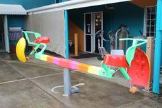 The Coaster rainbow powder coated Power Ranges, Powder Coating, Coasters, Workshop, Rainbow, Rain Bow, Atelier, Rainbows, Coaster