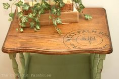 Vintage Table Makeover & a Transparency Transfer