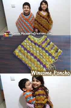 Poncho – Free Crochet Pattern This free crochet pattern poncho for any size. This free crochet pattern poncho for any size. Crochet Poncho Patterns, Crochet Scarves, Crochet Shawl, Crochet Clothes, Crochet Stitches, Knitting Patterns, Knit Crochet, Crochet For Kids, Easy Crochet