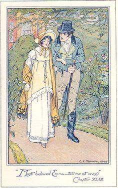 British Reproduction of 1898 C.E. Brock illustration of Emma