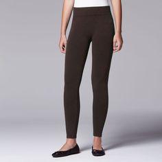 Simply Vera Vera Wang Twill Seamless Leggings, Women's, Size: Medium, Dark Brown
