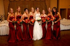 Fall Wedding Colors Bridesmaid Dresses | we had our ceremony at our lady of good counsel
