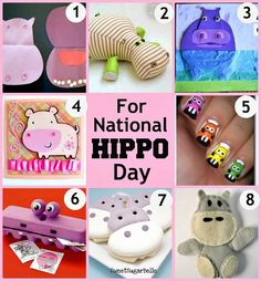 Hippo Crafts for National Hippo Day | Crafting in the Rain