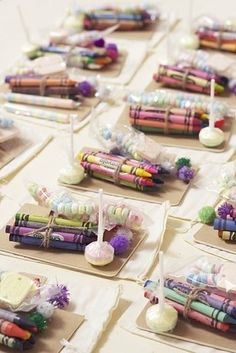 "Have a ""kids' table"" and stock it with crayons... lots of crayons."