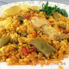 You searched for arroz con - Divina Cocina Heart Healthy Recipes, Rice Recipes, Veggie Recipes, Appetizer Recipes, Mexican Food Recipes, Ethnic Recipes, Spanish Recipes, Rice Dishes, Food Dishes
