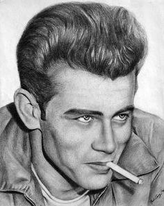 James Dean ~ The 50s Rebel by noeling on deviantART ~ artist Noel Cruz ~ pencil portrait