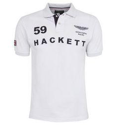 ralph lauren outlet uk Hackett London Aston Martin Racing 59 Logo Polo  Shirt White http  68a411bd4f93