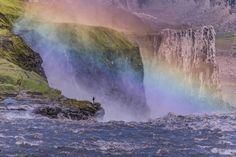 Rainbows in Dettifoss, Iceland - Imgur