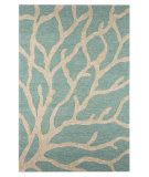 RugStudio presents Jaipur Rugs Coastal I-O Coral CI13 Frosty Green Hand-Hooked Area Rug~for beach themed laundry room.