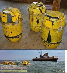 yellow barrels from jaws 1975