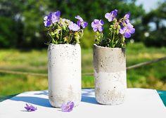 Floreros fáciles de concreto
