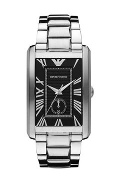 Emporio Armani 'Classic - Large' Rectangular Dial Watch available at #Nordstrom