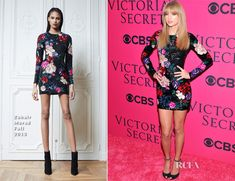 Taylor Swift In Zuhair Murad – 2013 Victoria's Secret Fashion Show. Get the dress for $8,918 at http://www.farfetch.com/shopping/women/zuhair-murad-floral-sequinned-dress-item-10564496.aspx